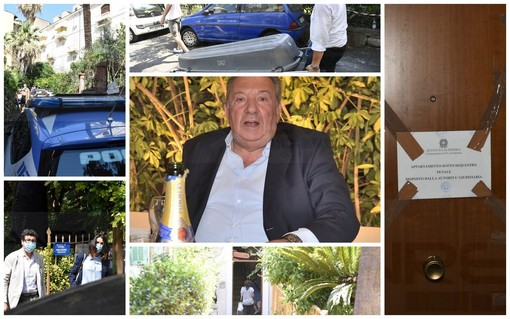 Collage fotografico omicidio Luciano Amoretti, Sanremo