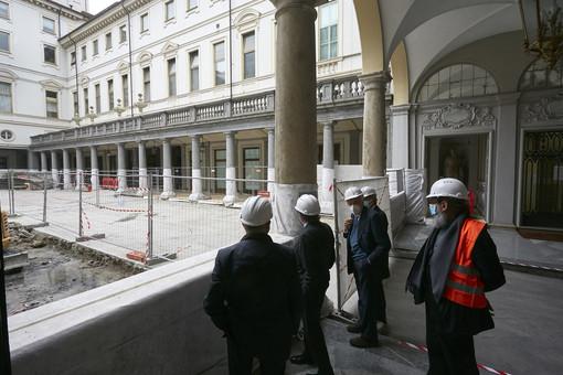 Intesa Sanpaolo, a Torino entra nel vivo il cantiere delle Gallerie d'Italia di piazza San Carlo