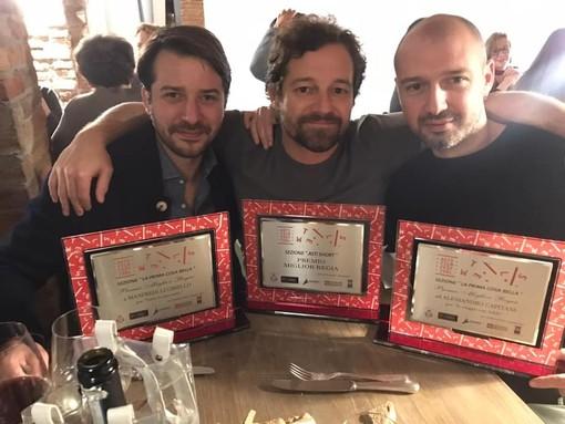 Manfredi Lucibello Brando De Sica Alessandro Capitani i tre premiati per la Miglior Regia 2019