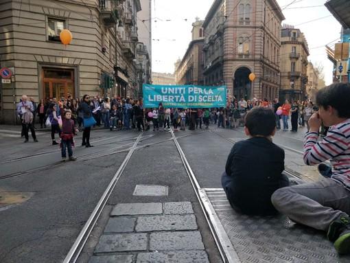 Manifestazione no vax a Torino nel marzo scorso