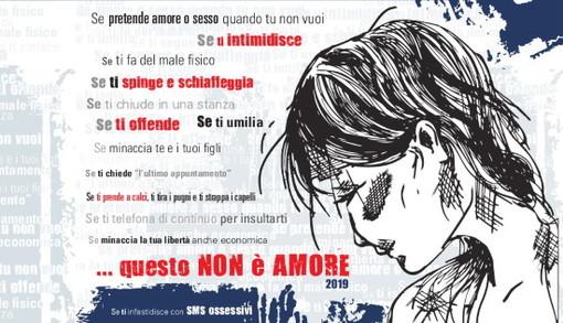 L'immagine simbolo della campagna contro la violenza