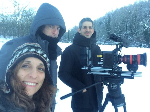 da sinistra Letizia Guglielmini (produttrice esecutivo), Michael Dweck (regista), Gregory Kershaw (regista