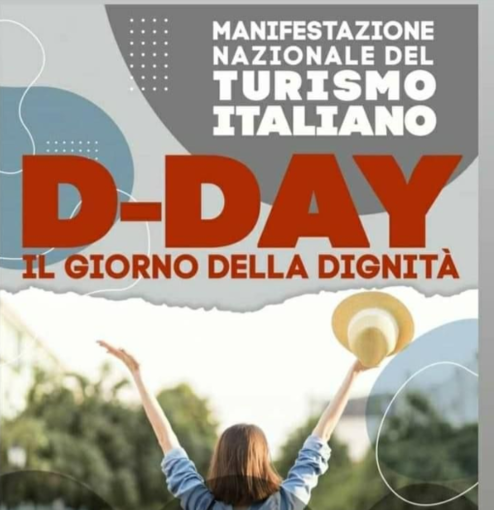 Locandina della protesta del turismo a Roma