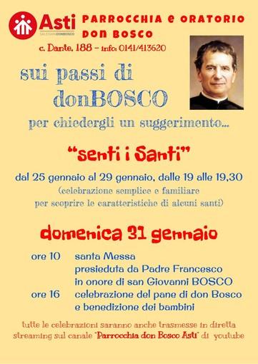 Da lunedì celebrazioni e momenti di riflessione per la festa di don Bosco