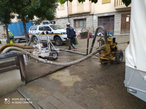 Anche il Coordinamento di Protezione Civile di Asti a Limone Piemonte, dopo l'alluvione (FOTO E VIDEO)