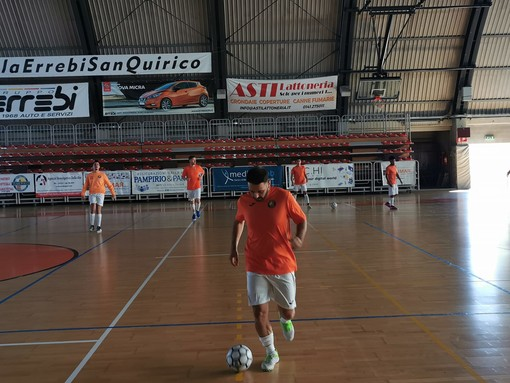 Allenamento dell'Orange Futsal Asti