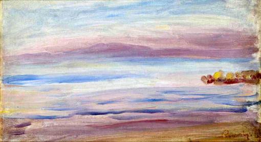 """Tramonto, veduta di Guernsey"" di Pierre-Auguste Renoir"