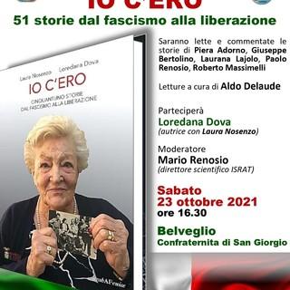 """Sabato 23 ottobre a Belveglio si presenterà il libro """"Io c'ero. Cinquantuno storie dal fascismo alla liberazione"""""""