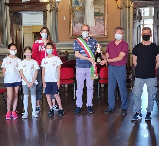 Ricevuti in Municipio gli atleti della Virtus Scherma Asti