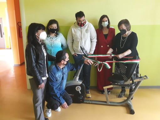 Inaugurata una speciale cyclette ortopedica al centro diurno di via Gavazza
