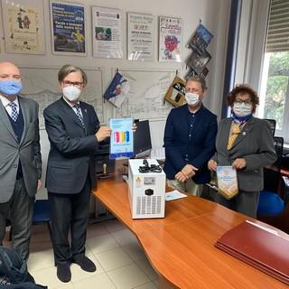 Sanificatori per le scuole di Nizza, Canelli e Incisa dal Rotary Club