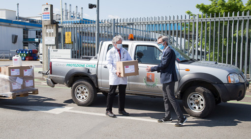 Villanova: il gruppo Basf consegna al Comune 500 litri di disinfettante