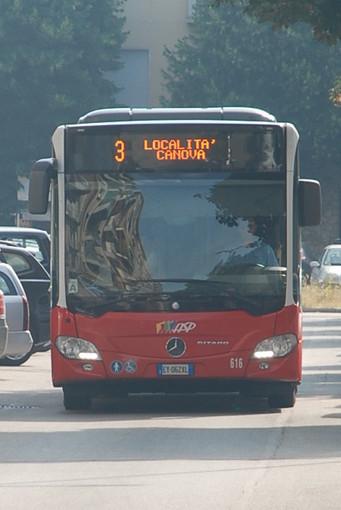 Venerdì 6 dicembre cambiano percorso i bus della linea 3 di Asp