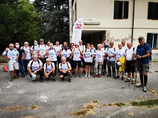 I partecipanti della marcia a Villa Quaglina