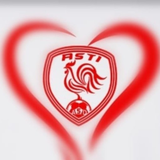 Logo Asti Calcio iscritto in un cuore