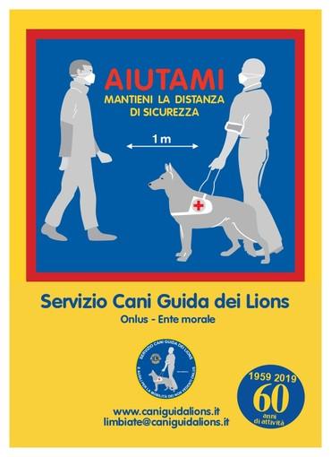 """""""Aiutiamoli a manterere le distanze"""" una campagna di sensibilizzazione del Centro Servizio Cani Guida Lions di Limbiate"""