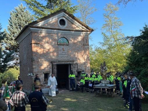 Un momento dell'Incontro alpino alla chiesetta della Misericordia di Bruno