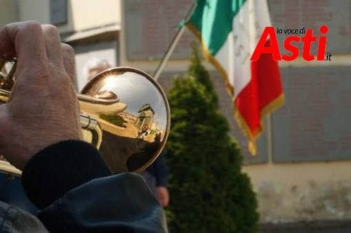 Immagine simbolica del 25 Aprile con il tricolore. Ad Asti