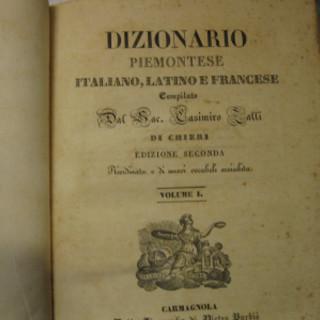 Antico dizionario piemontese