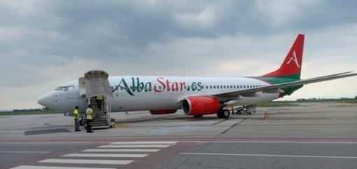 E' atterrato all'aeroporto di Levaldigi il primo volo della tratta Cuneo-Trapani (FOTO E VIDEO)