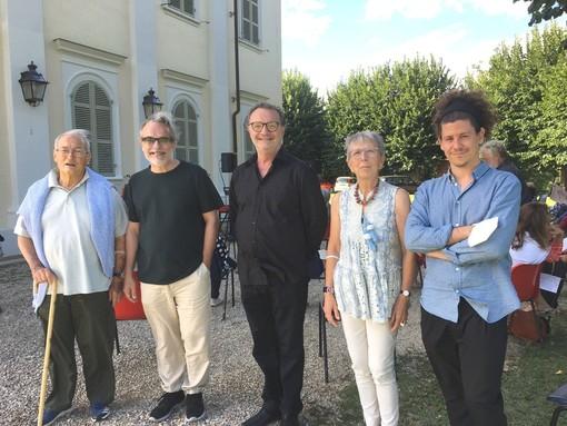 "Happy Ruggiero (a sinistra), Mario Nosengo, Mirella Torta al debutto di ""senzasipario"" con Francesco Visconti e Lorenzo Morra"