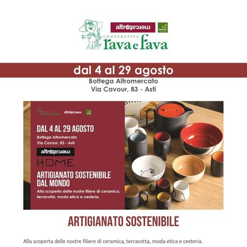 Artigianato sostenibile da tutto il mondo alla Rava e Fava di Asti