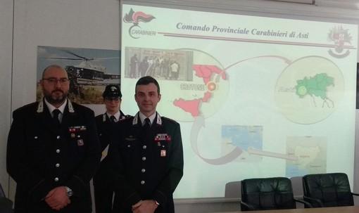 Il maggiore Repetto (a sinistra) e il tenente colonnello Breda ritratti a margine della conferenza stampa