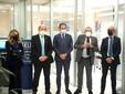 Taglio del nastro nel capoluogo ligure, alla presenza del presidente dell'istituto Tino Cornaglia e del governatore piemontese Alberto Cirio