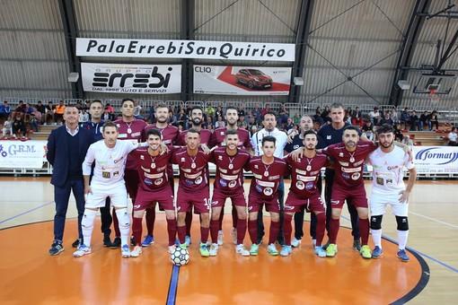 La squadra schierata al PalaSanQuirico