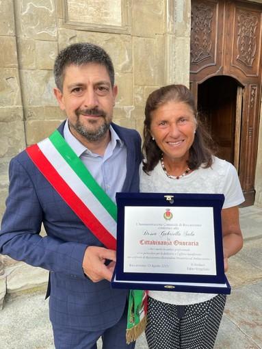 La dottoressa Sala con il sindaco di Roccaverano