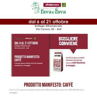 Alla Bottega Rava e Fava di via Cavour ad Asti si riparte dal Caffè Manifesto per la campagna ''Consumi o scegli?'