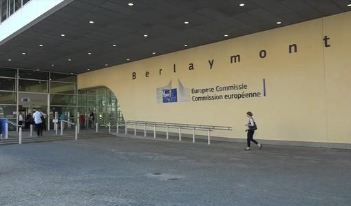 L'ingresso del palazzo che ospita la Commissione Europea