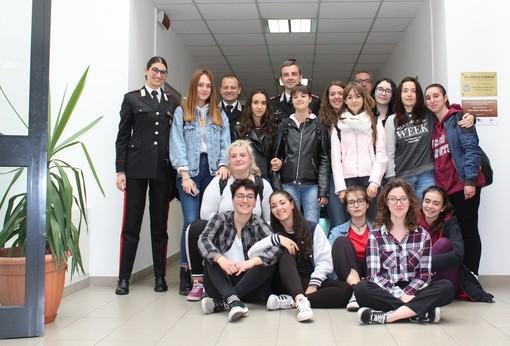 La 3C in caserma con il comandante Breda e i suoi collaboratori