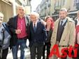 Il candidato di centrosinistra con Celeste Malerba, Piero Vercelli e Fabrizio Pace