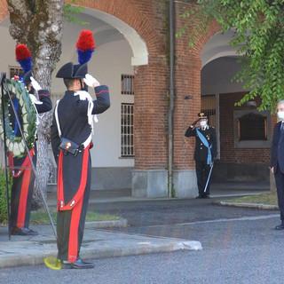 La commemorazione tenuta stamattina alla presenza del prefetto Giovanni Russo e del comandante provinciale dell'Arma, colonnello Pasquale Del Gaudio