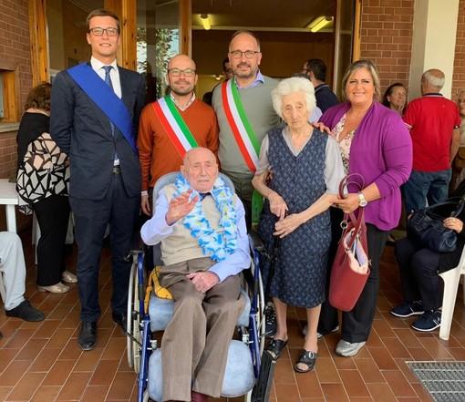 Portacomaro ha festeggiato l'imprenditore neo centenario