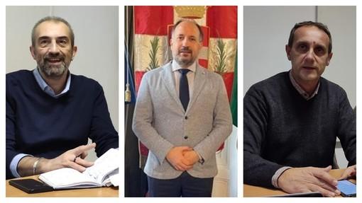 Nel collage, da sinistra: Mario Malandrone, Maurizio Rasero e Massimo Cerruti