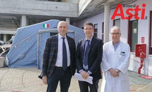 Il dottor De Rosa, il commissario straordinario dott. Messori Ioli e il dott. Ghiselli