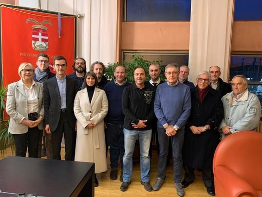 Il presidente Lanfranco con il consiglio direttivo della Croce Verde