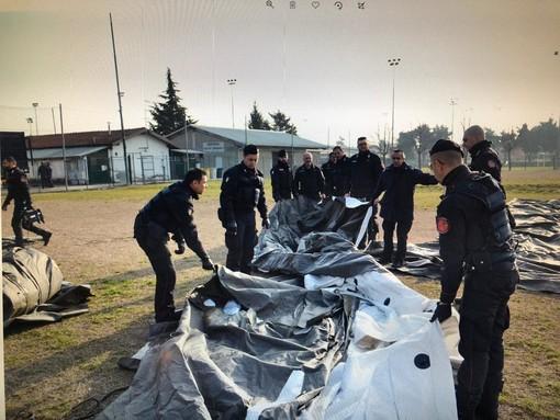 Questa mattina i carabinieri simulano un'emergenza alluvione nell'ex piazza d'Armi