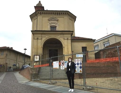 Il sindaco Anna Macchia e il cantiere di lavoro al San Giovanni.