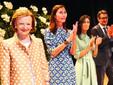Da sinistra, Maria Franca Fissolo, le nuore Paola Rossi e Luisa Strumia, il figlio Giovanni