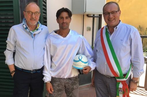 Bartoletti con il rettore Cordero e il sindaco Paolo Luzi