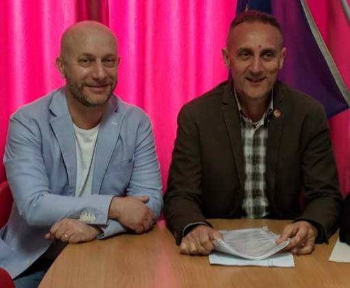 I consiglieri comunali M5S Giorgio Spata e Massimo Cerruti (capogruppo)