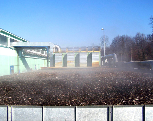 Un immagine dell'impianto di compostaggio