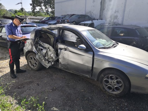 La Alfa 147 incidentata