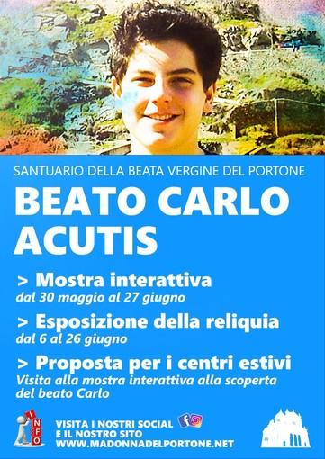Locandina mostra itinerante Beato Carlo Acutis