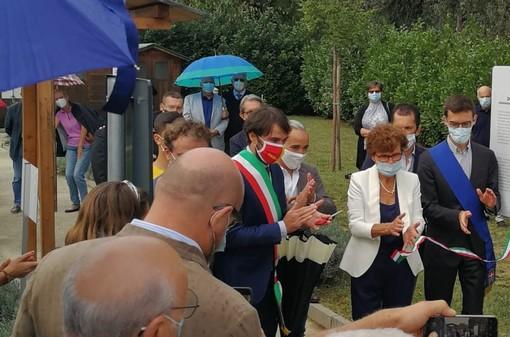 """Nizza Monferrato: è stato ufficialmente inaugurato il """"Giardino dei Giusti"""" di via don Celi"""