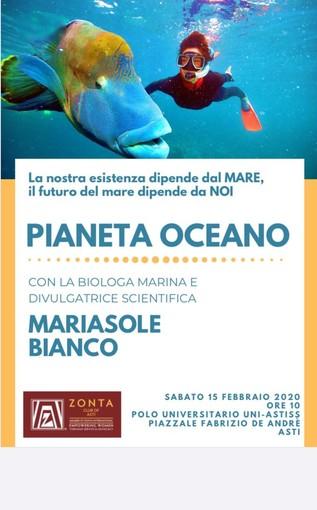 L'università di Asti ospiterà una conferenza divulgativa sull'importanza dell'ecosistema marino
