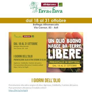 Alla bottega Rava e Fava di via Cavour ad Asti, si prenota l'olio extra vergine di oliva